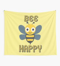 Don't Worry, Bee Happy Wall Tapestry
