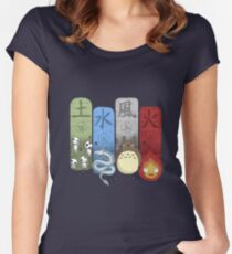 Ghibli Elemental Charms Women's Fitted Scoop T-Shirt