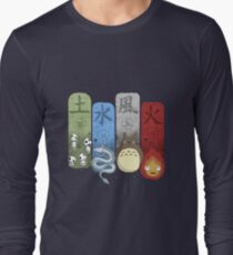 Ghibli Elemental Charms Long Sleeve T-Shirt