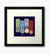 Ghibli Elemental Charms Framed Print