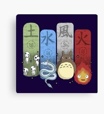 Ghibli Elemental Charms Canvas Print