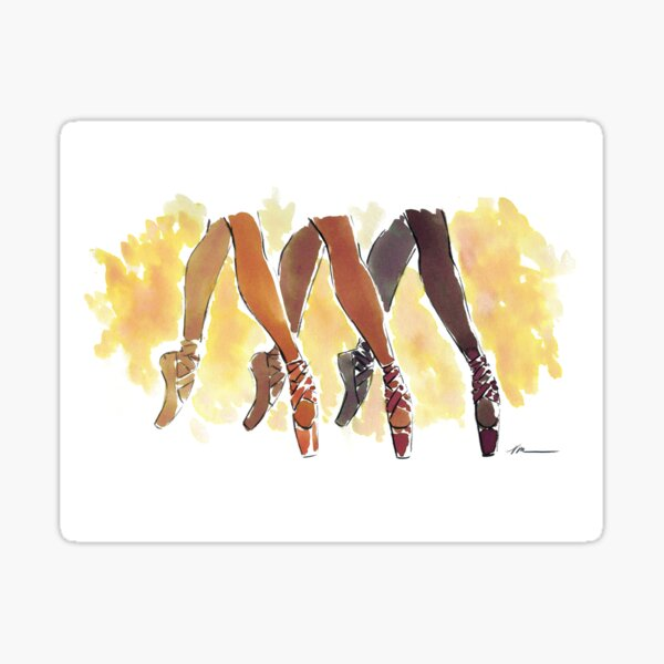Shades of Dance by Veronica Miller Jamison Sticker