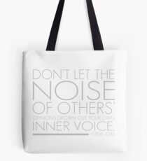 Inspirational Quote by Steve Jobs Tote Bag
