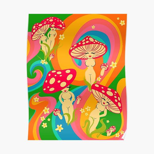 Mushroom Ladies Poster