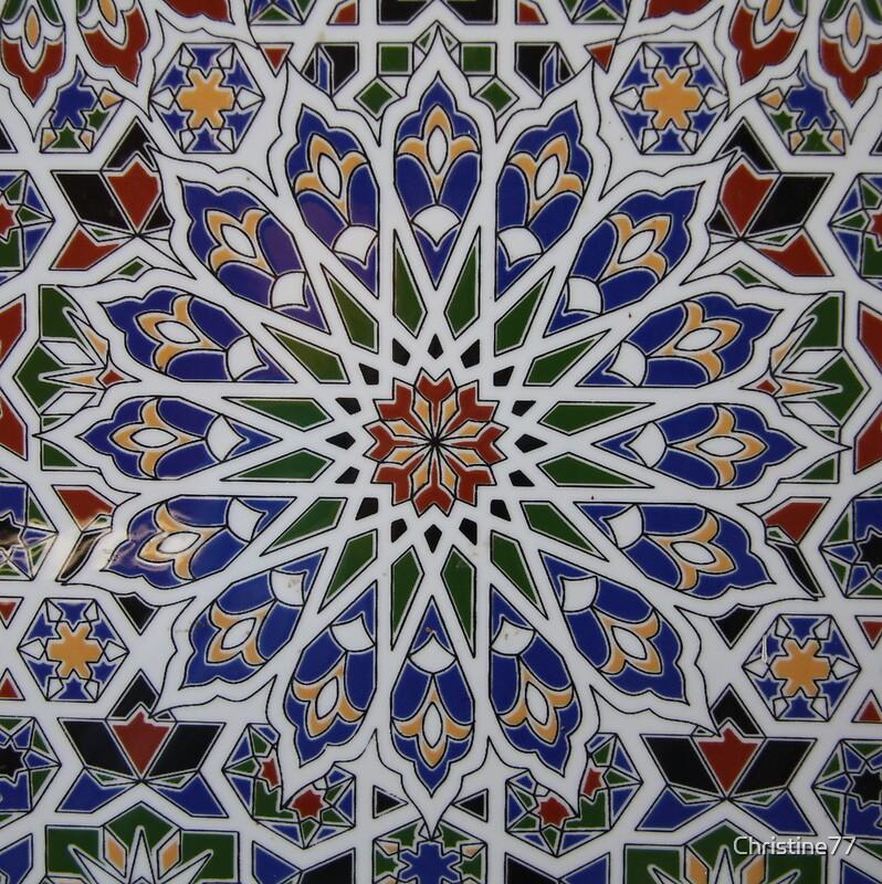 Quot Moroccan Tile Design Quot By Christine Oakley Redbubble