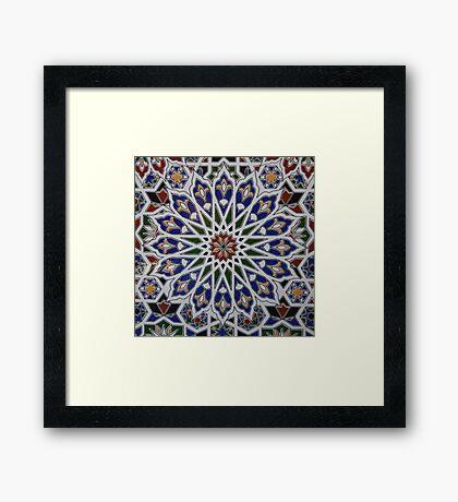 Moroccan tile design Framed Print