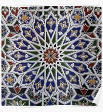 Moroccan tile design Poster