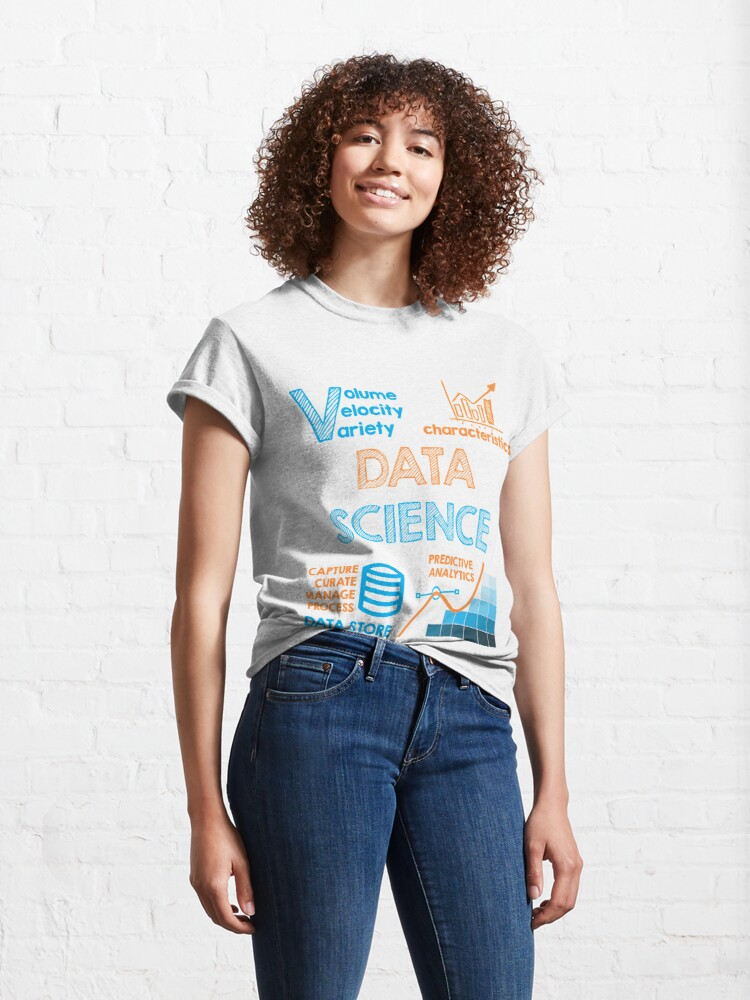 Alternate view of Data Science Designs Classic T-Shirt
