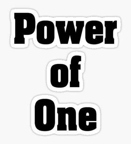 Power of one Sticker