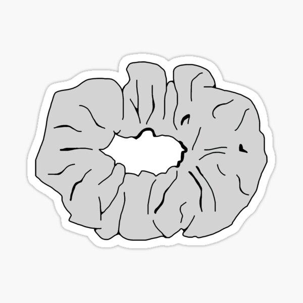 Light Gray Scrunchie Sticker
