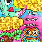 Watercolor Doodle Art | Time Never Waits by coloringiship