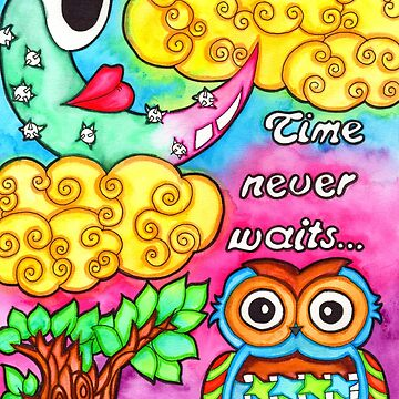 Watercolor Doodle | Time Never Waits by coloringiship