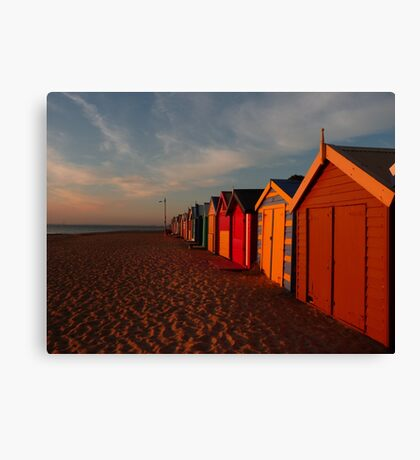 Basking in the Retreating Rays Canvas Print