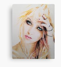 Taylor Momsen, Pastels Portrait, by James Patrick Canvas Print