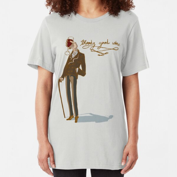 Bloody good wine Slim Fit T-Shirt