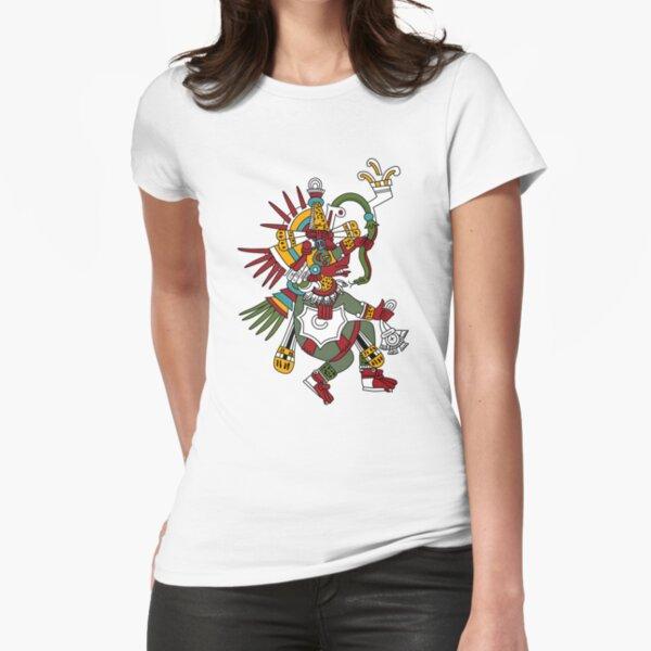 #Quetzalcoatl #featheredserpent #worship #Feathered Serpent Teotihuacan century Mesoamerican chronology veneration figure Mesoamerica Mexican religious center Cholula Maya area Kukulkan Fitted T-Shirt