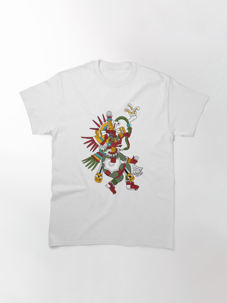 Alternate view of #Quetzalcoatl #featheredserpent #worship #Feathered Serpent Teotihuacan century Mesoamerican chronology veneration figure Mesoamerica Mexican religious center Cholula Maya area Kukulkan Classic T-Shirt