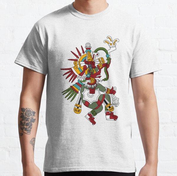 Print, #Quetzalcoatl #featheredserpent #worship #Feathered Serpent Teotihuacan century Mesoamerican chronology veneration figure Mesoamerica Mexican religious center Cholula Maya area Kukulkan Classic T-Shirt