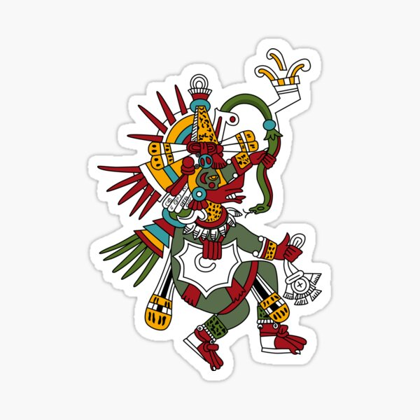 #Quetzalcoatl #featheredserpent #worship #Feathered Serpent Teotihuacan century Mesoamerican chronology veneration figure Mesoamerica Mexican religious center Cholula Maya area Kukulkan Sticker