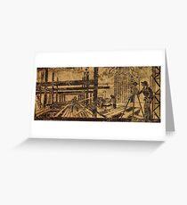 art deco frieze Greeting Card