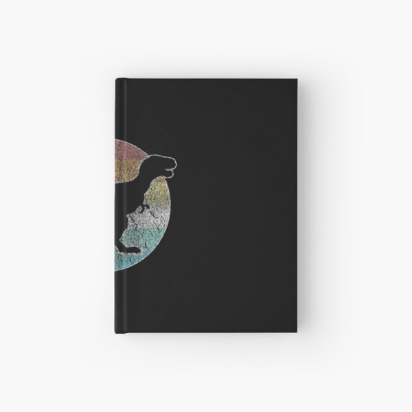 Dino retro dinosaur gift Hardcover Journal