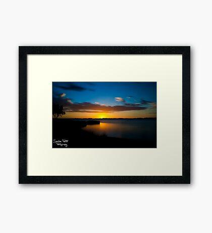 Australind Estuary Framed Print