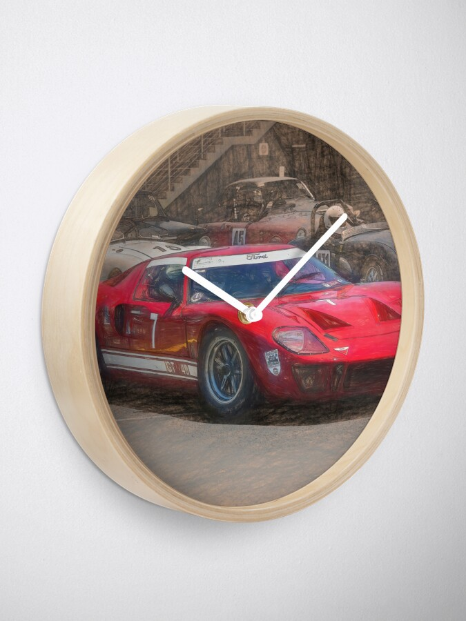 Alternate view of Red GT40 Clock