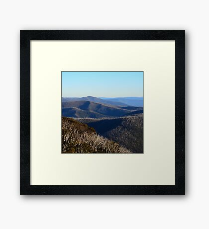The View from Hotham Framed Print