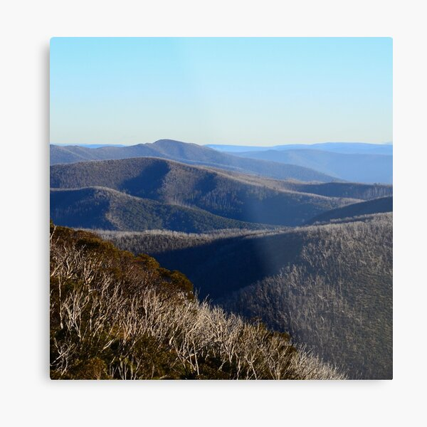 The View from Hotham Metal Print