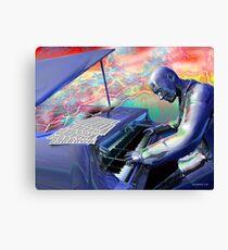 Blue Piano Canvas Print