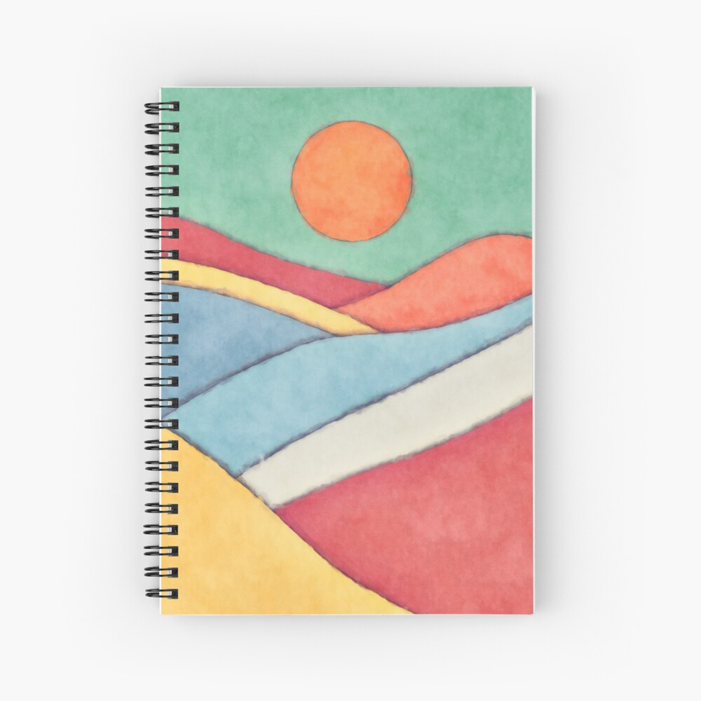 Sun And Landscape Spiral Notebook