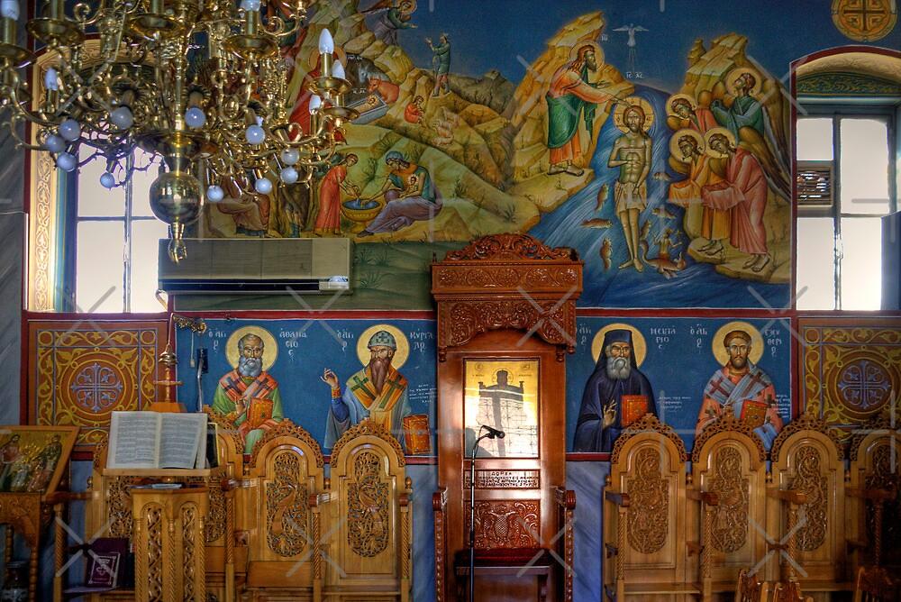 Katakolon Church Interior by Tom Gomez