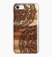 Burnt Wood Chocolate Doodle iPhone Case/Skin