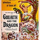 Vintage Hollywood Nostalgia Goliath and the Dragon Film Movie Advertisement Poster by jnniepce