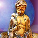 Buddha with Butterfly by Ginny Schmidt