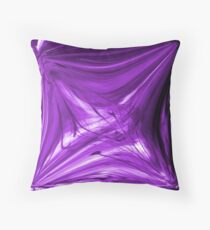 Purple Lines Throw Pillow