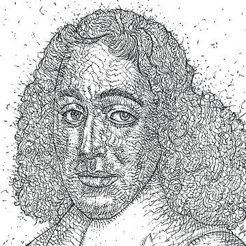 BARUCH SPINOZA - ink portrait by lautir