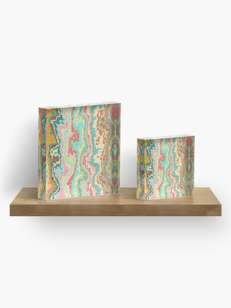 Alternate view of Abstract streams Acrylic Block
