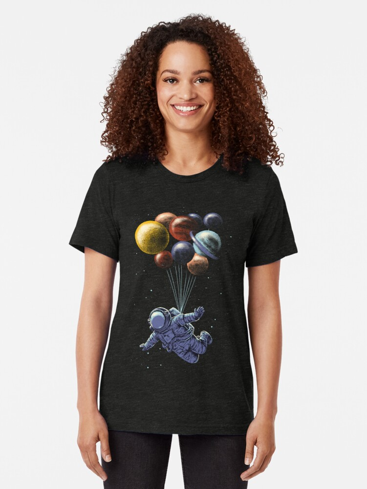 Alternate view of Space Travel Tri-blend T-Shirt