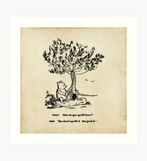 Winnie the Pooh - How do you spell love? Art Print