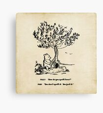 Winnie the Pooh - How do you spell love? Metal Print