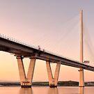 Queensferry Crossing Bridge Sunset by Grant Glendinning