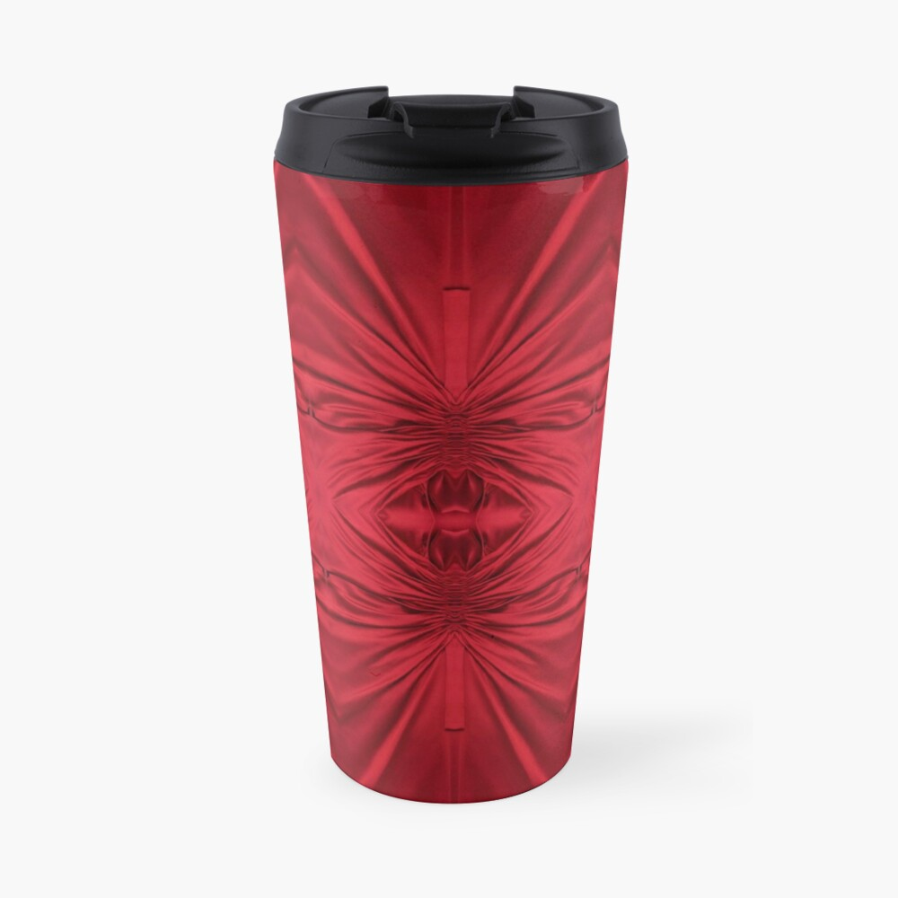 #red #maroon #symmetry #abstract #illustration #design #art #pattern #textile #decoration #vertical #backgrounds #textured #colors Travel Mug