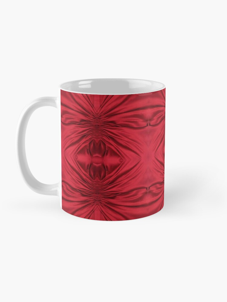 Alternate view of #red #maroon #symmetry #abstract #illustration #design #art #pattern #textile #decoration #vertical #backgrounds #textured #colors Mug