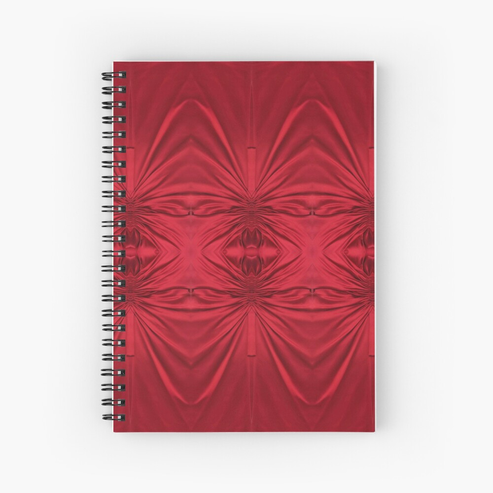#red #maroon #symmetry #abstract #illustration #design #art #pattern #textile #decoration #vertical #backgrounds #textured #colors Spiral Notebook