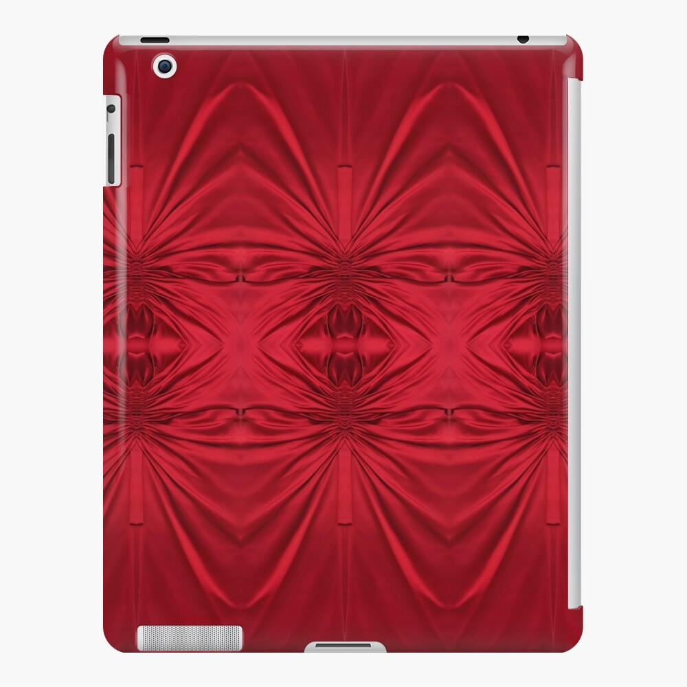 #red #maroon #symmetry #abstract #illustration #design #art #pattern #textile #decoration #vertical #backgrounds #textured #colors iPad Case & Skin