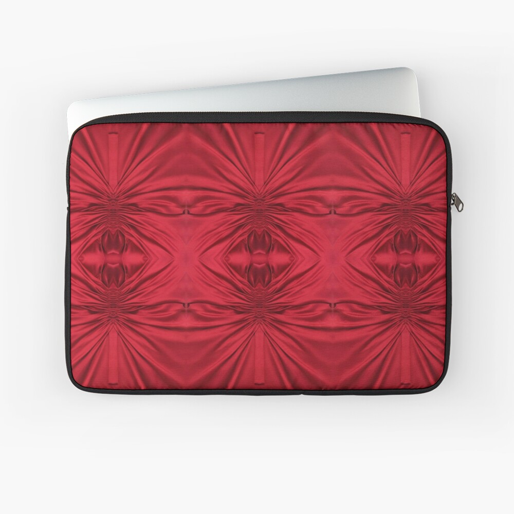 #red #maroon #symmetry #abstract #illustration #design #art #pattern #textile #decoration #vertical #backgrounds #textured #colors Laptop Sleeve