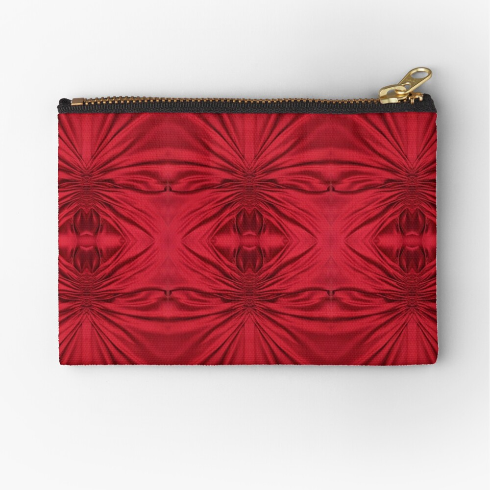#red #maroon #symmetry #abstract #illustration #design #art #pattern #textile #decoration #vertical #backgrounds #textured #colors Zipper Pouch