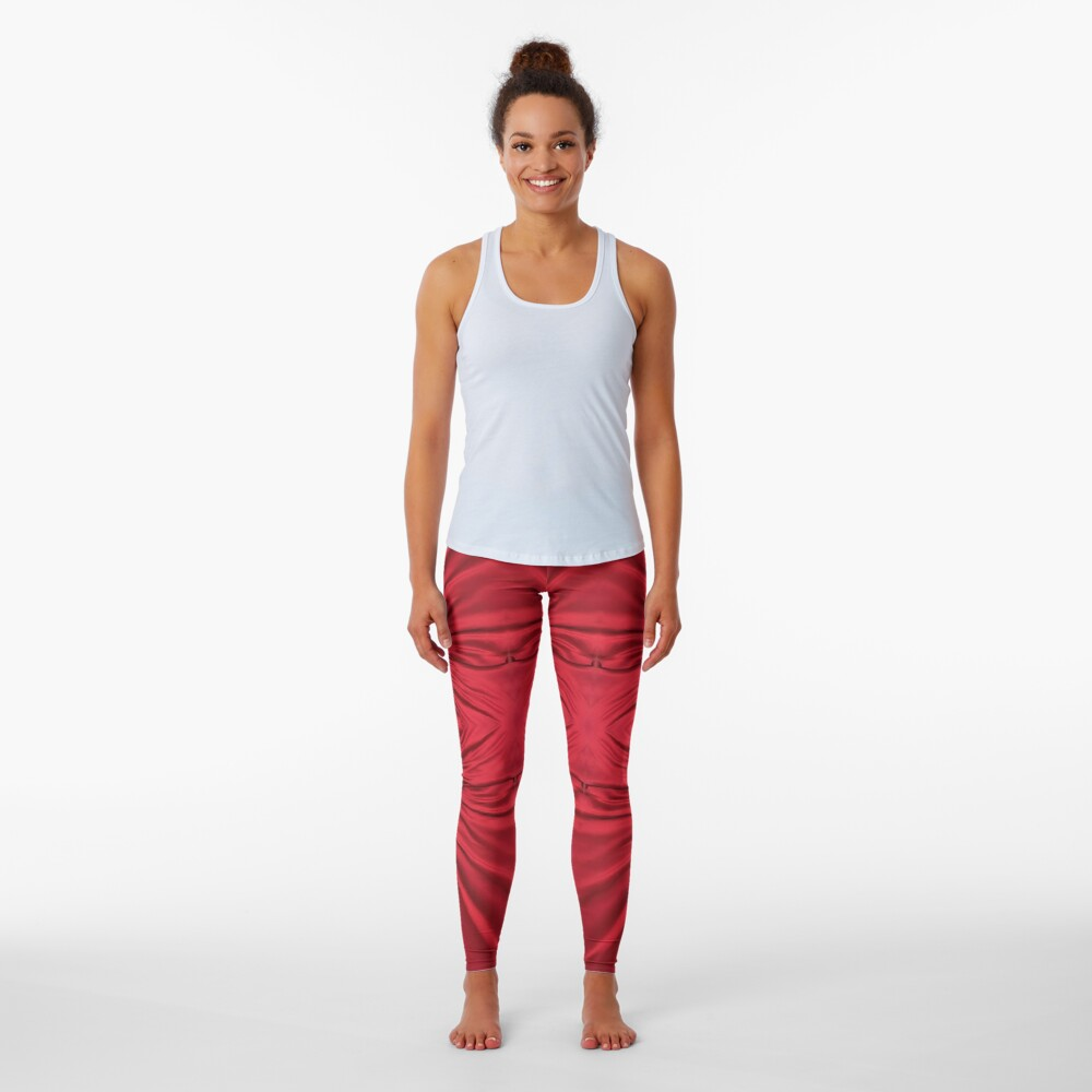 #red #maroon #symmetry #abstract #illustration #design #art #pattern #textile #decoration #vertical #backgrounds #textured #colors Leggings