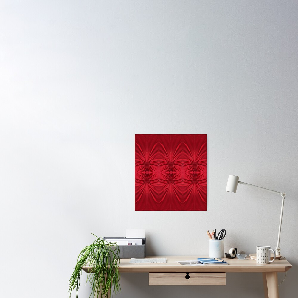 #red #maroon #symmetry #abstract #illustration #design #art #pattern #textile #decoration #vertical #backgrounds #textured #colors Poster